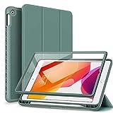 SURITCH Hülle für iPad 10,2 Hülle (iPad 9./8./7. Generation) Schutzhülle mit Eingebaut Bildschirmschutz & Pencil Halter Hülle mit Ständer Funktion & Auto Schlafen/Wachen für iPad 10.2 Zoll - Grün