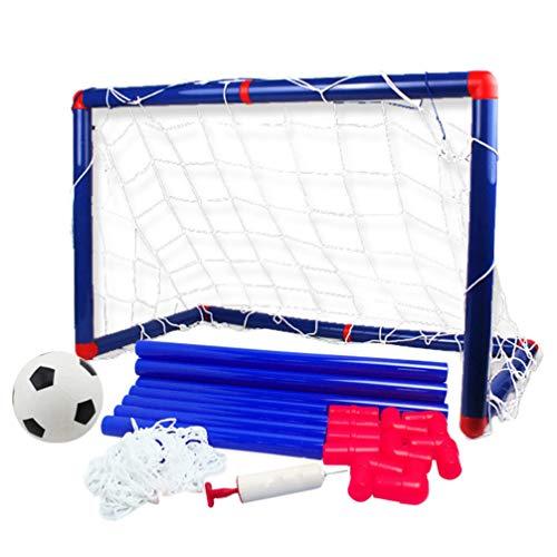 NUOBESTY Easy Score Fußball Set Fußballtor Net Fußball mit Luftpumpe für Kinder Kinder im Freien Hinterhof Spielen Trainingspiel 90Cm