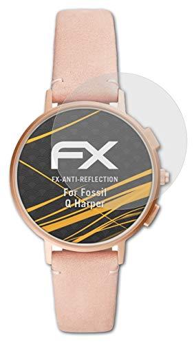 atFoliX Panzerfolie kompatibel mit Fossil Q Harper Schutzfolie, entspiegelnde & stoßdämpfende FX Folie (3X)