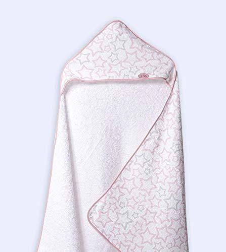 INTERBABY Capa-Bebe 100x100 cm Blanco-Rosa LOVE-T1177