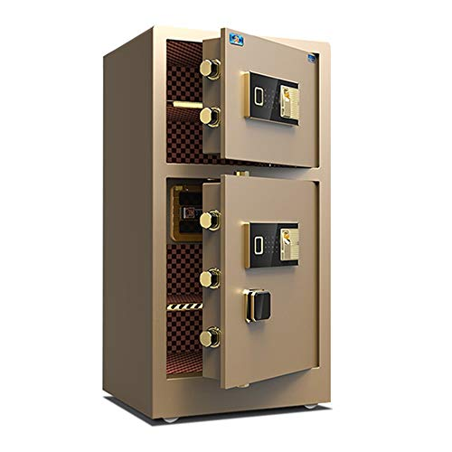 ReedG Caja de Seguridad Caja Fuerte con Capacidad biométrica de la Huella Digital de Seguridad del Teclado de Seguridad Caja de la Cerradura armarios de Acero Fuerte Segura para Casa