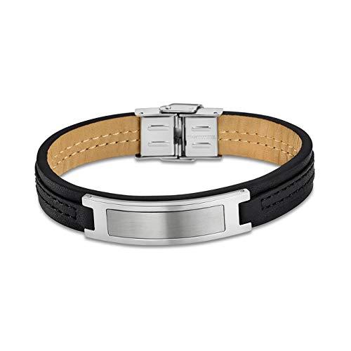 Lotus Herren Armband LS1808-2/2 Leder Schmuck Silber schwarz Style D4JLS1808-2-2 Armband präsentiert von IMPPAC