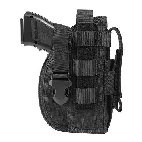 OneTigris Etui/Holster à Pistolet Droitiers Molle Tactique Militaire avec Porte Chargeur pour 1911 45 92 96 Glock (Noir)