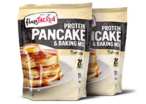 FlapJacked Protein Pancake & Baking Mix, Buttermilk, 24 Ounce, 2 Pack