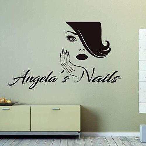 JXLLCD schoonheidssalon schoonheid nagellak make-up winkel behang 98x57cm