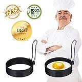 ARTISTORE Egg Ring, Round Egg Pancake Maker Mold, Stainless Steel Non Stick Metal Circle Shaper...