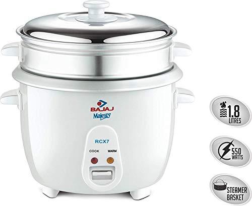 Bajaj RCX7 1.8 L Rice Cooker, White