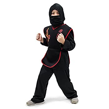 Sneaky Ninja Children s Halloween Dress Up Theme Party Roleplay & Cosplay Costume Unisex  S M L XL  by Boo! Inc  Youth Medium  5-6   Black