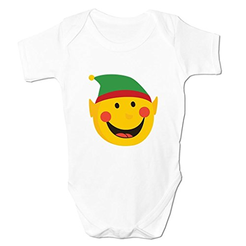 Funny Baby Grows Cute Baby Clothes for Baby Boy Baby Girl Bodysuit Vest Christmas Elf Emoticon