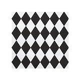 20 tovaglioli a forma di rombi, colore nero, in carta |...