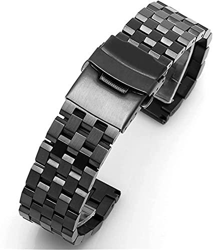 de las mujeres del reloj de la correa de reloj de los accesorios de 18 mm 20 mm 22 mm 24 mm 26 mm acero inoxidable de liberación rápida de la correa de los hombres de la pulsera de metal sólido venda