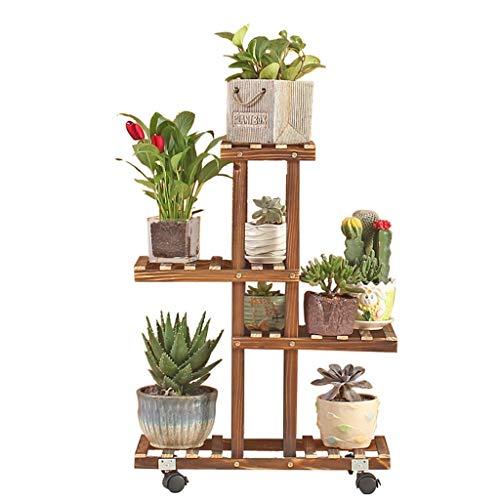 ChenDz Support à fleurs Support à pots de fleurs en bois de pin/Étagères multicouches pour supports à 6 étages de support pour fleurs (Color : B)