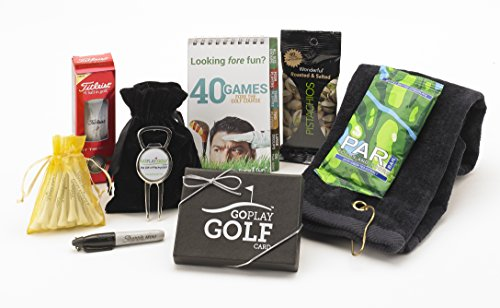 Buy Bargain Go Play Golf Essentials II-25 Gift Basket for Men and Women
