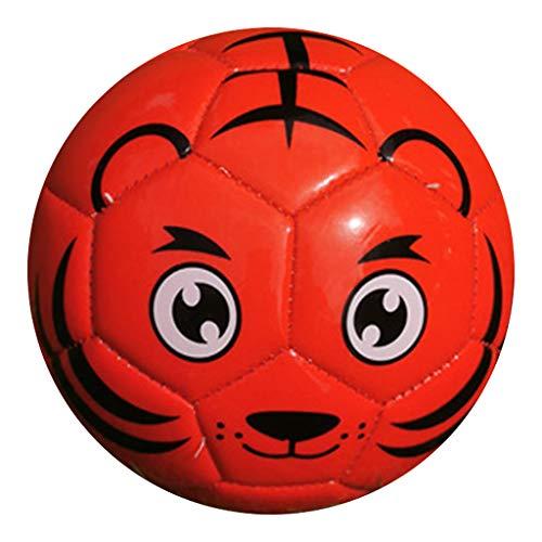 FITYLE Pelotas de fútbol Juego Deportivo Pelota de Entrenamiento Ligero Ocio tamaño 2, para niños jóvenes y Adultos Pelotas de fútbol Interior Exterior - Rojo