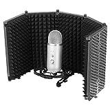 SoundShield Mikrofon Isolierung Schild Absorber Stimm Isolierung Filter Stand, Aufnahmeschallwand/Reflexionsfilter Für Mikrofone, Mit Schallisolierung Schaum, Halterungen (Nein Mikrofon) 33x21x19cm