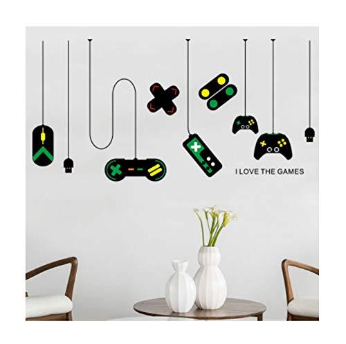 huayao Spiel Griff Wandaufkleber Dekoration Jungen Zimmer Kronleuchter Internet Cafe Studie Computer Schreibtisch Hintergrund Hintergrundbild Poster Wanddekoration 80X140Cm