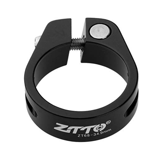 Sharplace Abrazadera de Tija de Sillín de Bicicleta Ultraligera Abrazaderas Fijadas con Bloqueo de Poste de Asiento - Negro 34.9mm