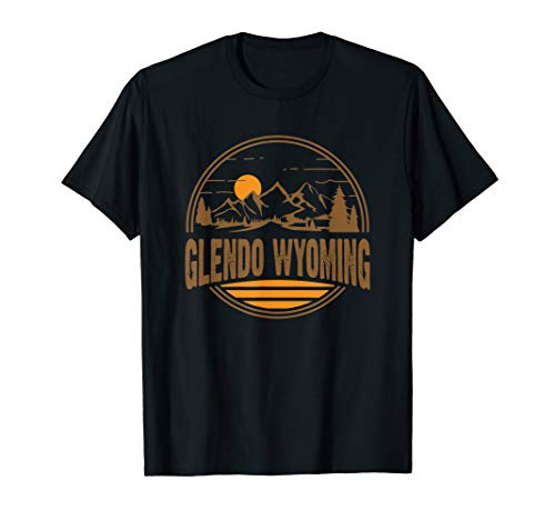 Vintage Glendo, Wyoming Mountain Hiking Souvenir Print T-Shirt