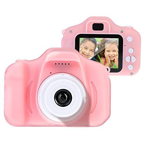 Litthing Regali 3-10 Anni Fotocamere per Bambini Fotocamere digitali 8.0 MP per Ragazze Ragazzi Funzioni Fotografi Videogiochi Regali Video Compleanno Natale (Scheda 32G TF Inclusa) (Blu) (Rosa)