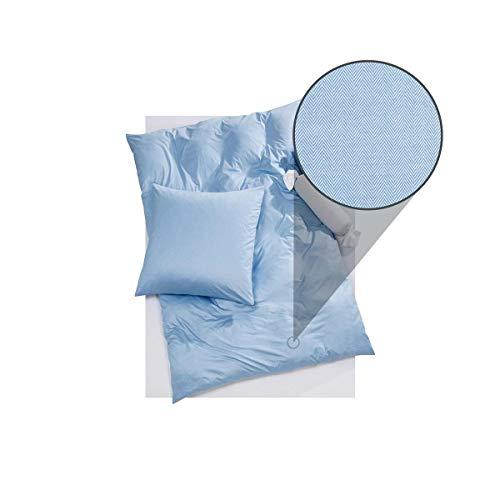 DORIS MEYER Interlock-Jersey Bettwäsche Kalli bleu Kissenbezug einzeln 80x80 cm