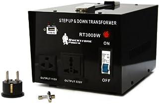 Rockstone Power 3000 Watt Heavy Duty Step Up/Down Voltage Transformer Converter, 110/120/220/240 V, 5V USB Port