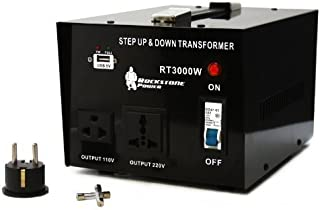 Rockstone Power 3000 Watt Heavy Duty Step Up/Down Voltage Transformer Converter - Step Up/Down 110/120/220/240 Volt - 5V USB Port - CE Certified [3-Year Warranty]