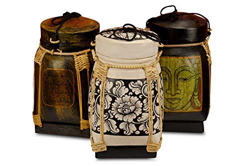 Bambus Reis Korb - Vorratsbehälter - 6 Verschiedene Größen - Vorratsdose für Küche, Kinderzimmer oder auch Badezimmer (XL)