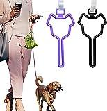 2 uds., Bolsa de basura para mascotas, Clip de manos libres, Clip ajustable para bolsa de basura, bolsa para heces para mascotas, portador de correa para caca de perro, accesorios (A)