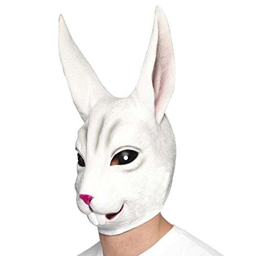 Amakando Kaninchenmaske Hasenmaske Vollmaske Kaninchen Latexmaske Hase Rabbit Hasen Maske Faschingsmaske Tier
