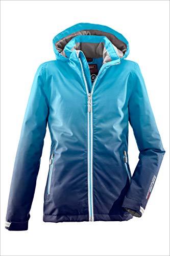 Killtec Mädchen Grenda Jr Skijacke/Funktionsjacke Mit Kapuze Und Schneefang, 10.000 Mm Wassersäule, Wasserdicht, Türkis, 128