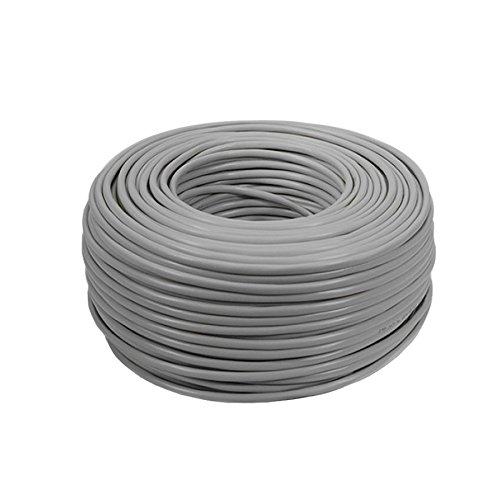 Cable de par Trenzado UTP Cat 5e 4 * 2 * 50 CCA, CCS Gris, 50 m Aluminio Revestido de Cobre