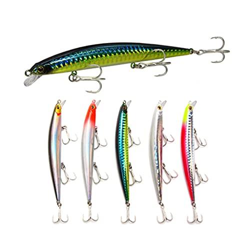 FNAPE Señuelos de Pesca Pack de Pesca Catching/Spinning – Señuelos Duros Flotantes Artificiales – Cebos Lucio/Black Bass/lubina – Pesca pantano y mar