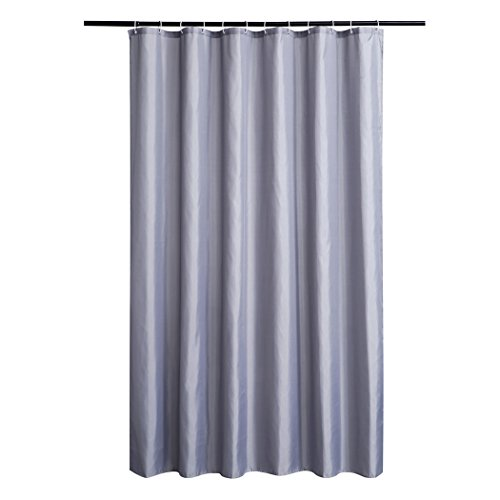 shaneundshaina Grau lang groß größe wasserdicht duschvorhang hängen Vorhang (Grau, höhe:230cm/90.55in;breite:200cm/78.74in)