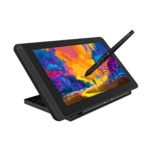 HUION 2021 Kamvas 12 Ultrathin Graphic Drawing Tablet with Screen Full-Laminated Pen Display Digital Drawing Monitor, Battery-Free Stylus, Tilt Function 8192 Pen Pressure, Stand Included-11.6 Inch