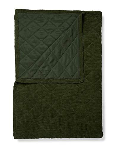 ESSENZA Quilt Billie Uni Polyester dunkelgrün, 150x200 cm