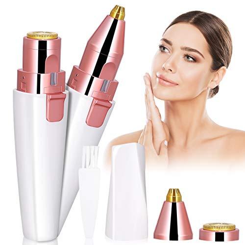 Afeitadora Electrica Mujer, Kastiny 2 en 1 Depiladora Facial Mujer, Maquinilla Eléctrica Impecable con Carga USB para Nariz, Cuerpo y Vello Facial