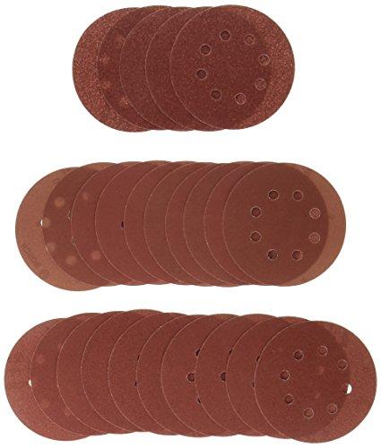 Bosch 2607019497 - Paquete de 25 lijas para lijadoras excéntricas (diámetro de 125 mm, grano 80, 120, 240)