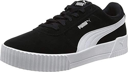 PUMA Carina, Zapatillas Mujer, Negro Black/Black/Silver, 37 EU