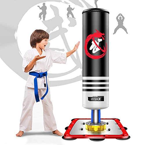 Dripex Sac de Frappe sur Pied Boxe Enfant Debout Libre Robuste Sac de Punching Kick Appareil...