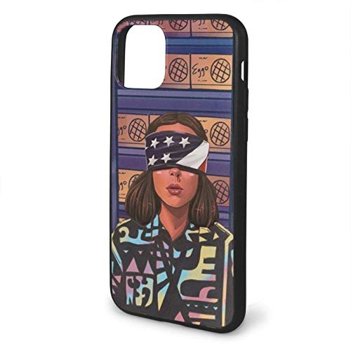 Houte Stranger Things Eleven Blind Eyes Fanarts American Fantasy Series Compatible with iPhone 11 PRO Case TPU Fall Protection Black Phone Cases Cover