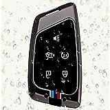 Étui à clés de Voiture en Alliage de Zinc 5 Boutons Couvercle de télécommande Intelligent,...