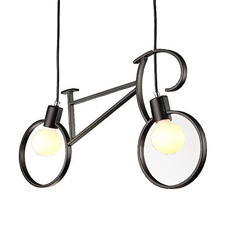 Moderne Fahrrad Metall Eisen Pendelleuchten Schatten E27 Edison LED Fahrrad Deckenleuchten Leuchten für Wohnen Essen Kinderzimmer Cafe Geschäfte HallwayRestaurant Clothing Store