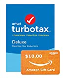 TurboTax Deluxe + State 2019 Tax Software [Amazon Exclusive] [PC Download]+ $10 Gift Card