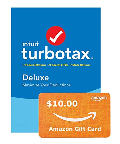 TurboTax Deluxe + State 2019 Tax Software [Amazon Exclusive] [PC Download]+ Free $10 Amazon Gift Card
