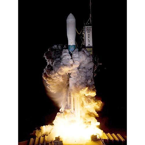 NASA Kepler Telescoop Delta raket lancering ingelijst muur kunst afdrukken 18X24 In