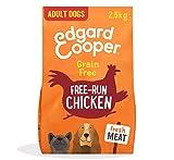 Edgard & Cooper Cibo Secco per Cani Adulti Crocchette con Carne Fresca di Pollo Senza Cereali 2.5kg in Confezione Biodegradabile, Alimentazione Naturale per Cani di Ogni Taglia