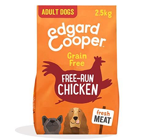 Edgard & Cooper Pienso para Perros Adultos Naturel Sin Cereales con Pollo Fresco de Granja 2.5kg, Alimentación balanceada Carne 100% Fresca Sin harinas de Carne, Cocinada a Baja Temperatura