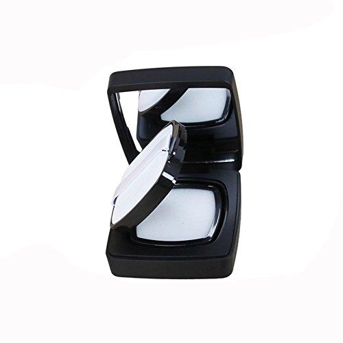 Carré 15 ml vide air portable Luxueux coussin Puff Poudre Teint liquide BB crème CC Boîte titulaire boîte à gâteau Coiffeuse Étui avec Houppette éponge Coussin d'Air et miroir – Interrupteur -magnetic induction (Lot de 1)