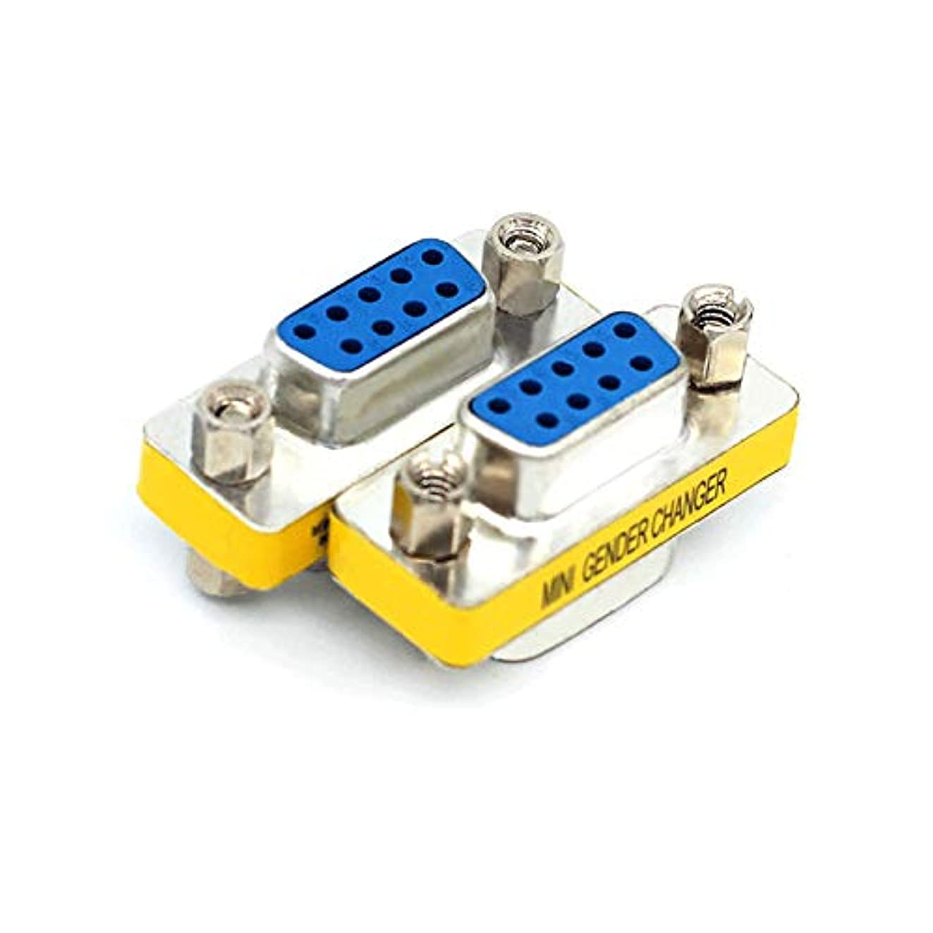 DB9 Female to Female,Gleewin 2-Pack 9 Pin RS232 DB9 F/F Serial RS232 Mini Gender Changer/Coupler