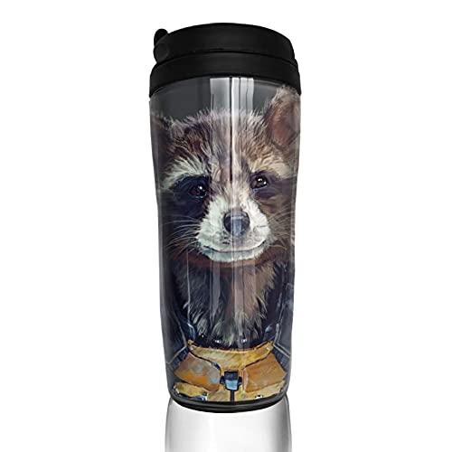 Rocket Groot Taza de café reutilizable aislada taza de viaje para bebidas frías calientes, 350 ml